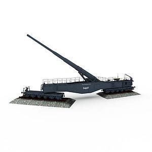 利奥波德列车炮模型3d模型