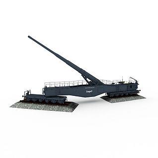 利奥波德列车炮3d模型
