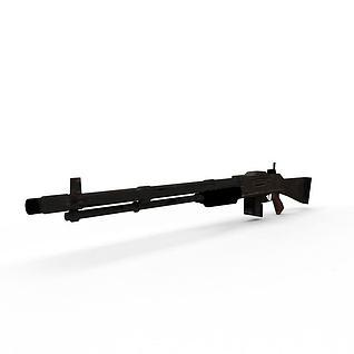 半自动步枪3d模型