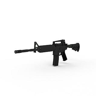 m16突击步枪3d模型