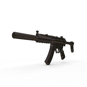 3dMP5SD冲锋枪模型