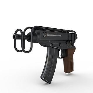 捷克Skorpion冲锋枪3d模型