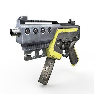 现代冲锋枪3d模型
