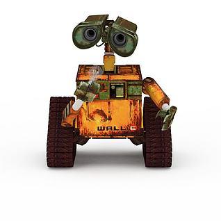 机器人瓦力3d模型