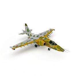 苏-25攻击机3d模型