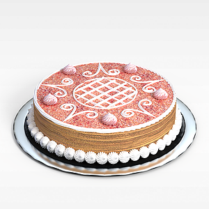 3d圓形<font class='myIsRed'>蛋糕</font>模型