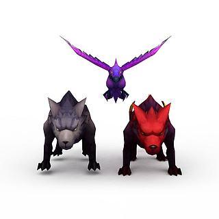 游戏<font class='myIsRed'>动物</font>3d模型