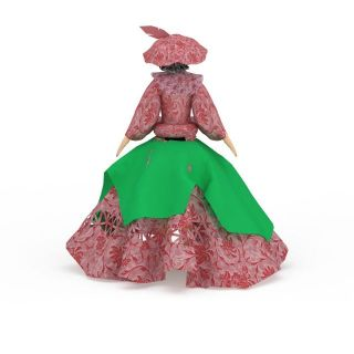 洋娃娃玩具3d模型