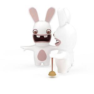 大白兔玩具模型