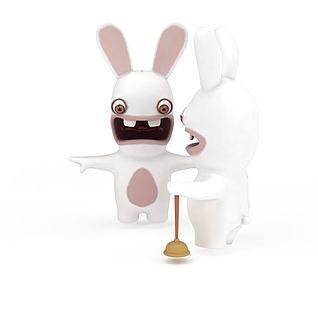 大白兔玩具3d模型
