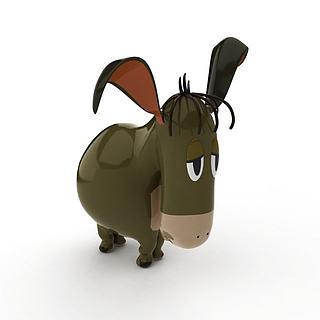 陶瓷玩具驴3d模型