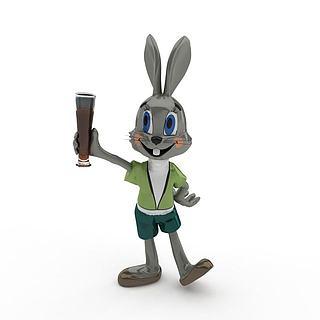 兔八哥玩具3d模型