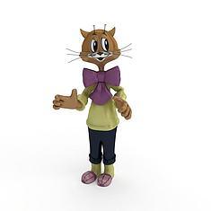 儿童玩具猫3D模型3d模型