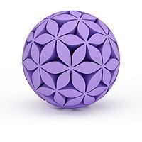 紫色绣球3d模型