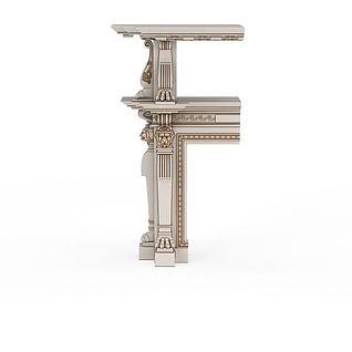 狮子雕花3d模型
