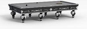 3d花式9球台球桌模型