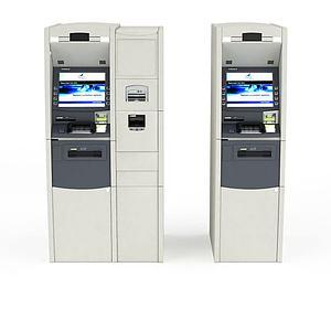 3d自动购票机模型