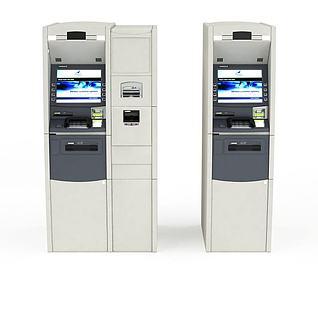 自动购票机3d模型