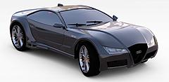 黑色汽车模型3d模型
