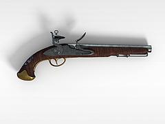 西方古代手枪模型3d模型