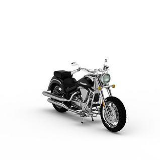 时尚摩托车3d模型