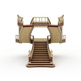 3d别墅<font class='myIsRed'>楼梯</font>模型