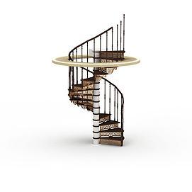 3d欧式<font class='myIsRed'>楼梯</font>模型