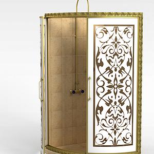高档淋浴房模型