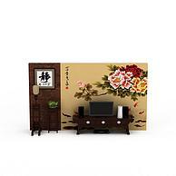 复古电视背景墙3D模型3d模型
