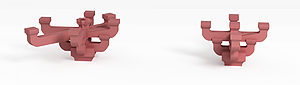 3d紅色<font class='myIsRed'>斗拱</font>模型