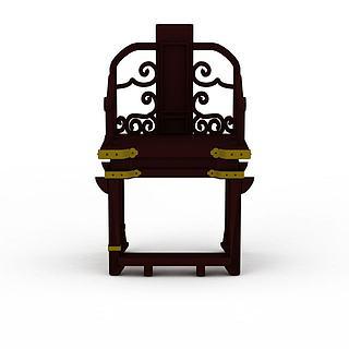 镂空椅子3d模型