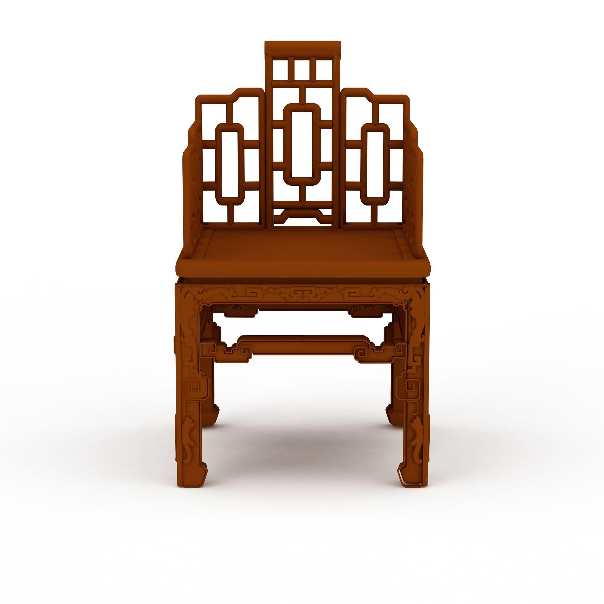 中式镂空椅子png高清图  中式镂空椅子高清图详情 设计师 3d学院 模
