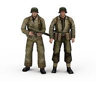 帅气军人3D模型3d模型