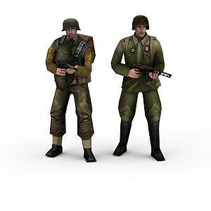 瀟灑軍人模型3d模型
