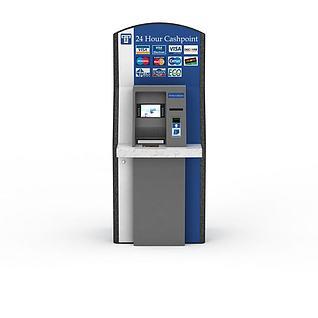 银行ATM机3d模型3d模型