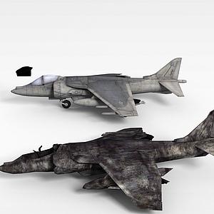 3d废旧战斗机模型