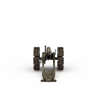 复古大炮3d模型3d模型