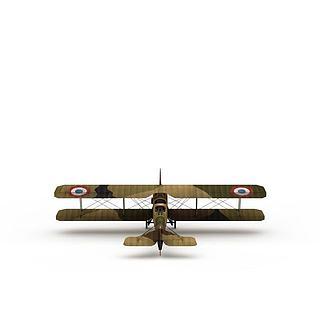 双翼<font class='myIsRed'>飞机</font>3d模型