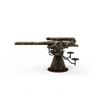 大炮3d模型3d模型