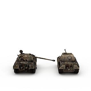 旧坦克3d模型3d模型