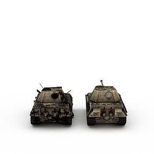 作战坦克3d模型