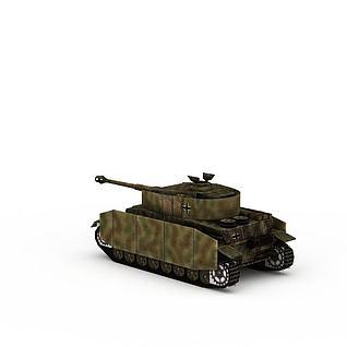 军用坦克3d模型3d模型