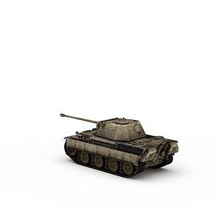 陆上作战武器坦克3d模型