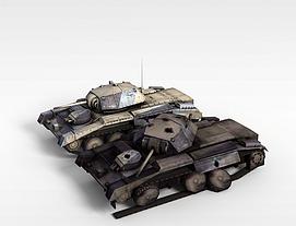 3d军用<font class='myIsRed'>坦克</font>模型