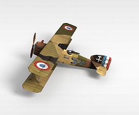 3d双翼<font class='myIsRed'>飞机</font>模型