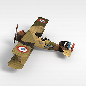 3d雙翼<font class='myIsRed'>飛機</font>模型