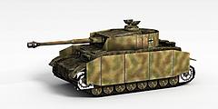 军用坦克模型3d模型