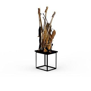 创意乐器装饰3d模型