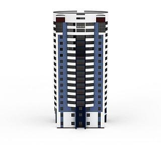 现代公寓建筑3d模型