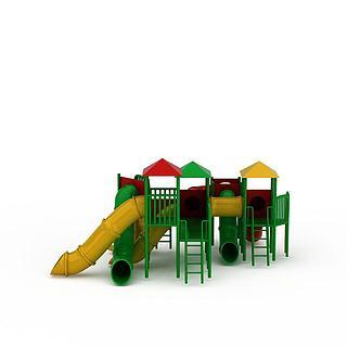 游乐场儿童城堡滑梯3d模型